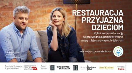 Banner akcji Restauracja Przyjazna Dzieciom. Foto: materiały prasowe.