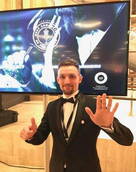 Piotr Pietras na Mistrzostwach Świata Sommelierów 2019. Foto: materiały prasowe.