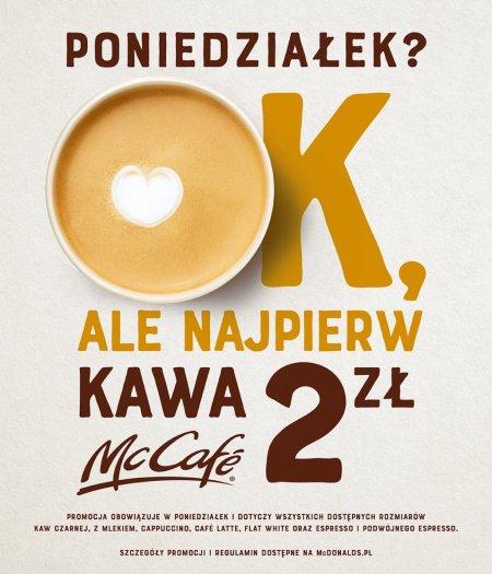 Kawa za 2 zł w McDonald's. Foto: materiały prasowe.
