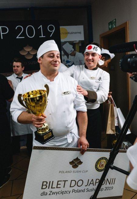 Zwycięzcą Poland Sushi Cup 2019 został Adrian Kiersnowski ze Swarzędza. Foto: Pyza Made in Poland.