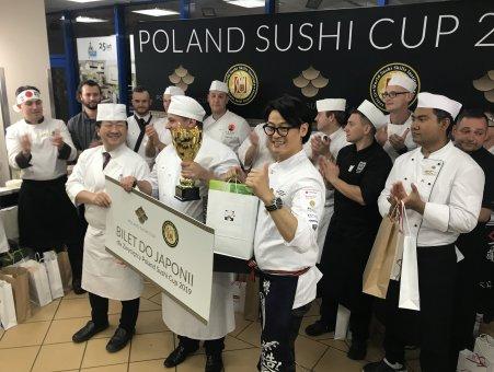 Zwycięzcy i finaliści Poland Sushi Cup 2019. Foto: Kokoro Smaki Japonii.