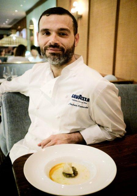 Andrea Camastra, szef kuchni restauracji Senses. Foto: materiały prasowe.