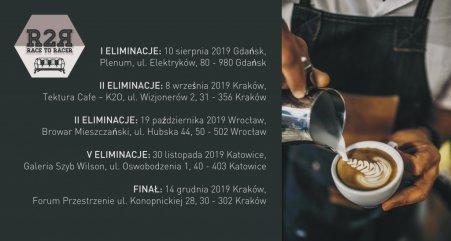 Harmonogram Race to Racer Caffè Vergnano. Foto: materiały prasowe.