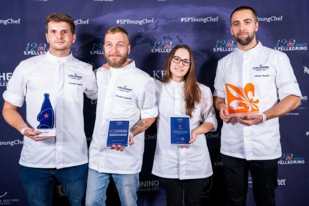 Zwycięzcy półfinału regionalnego dla Europy Centralnej w konkursie dla młodych kucharzy S.Pellegrino Young Chef 2020. Zdjęcie: materiały prasowe.