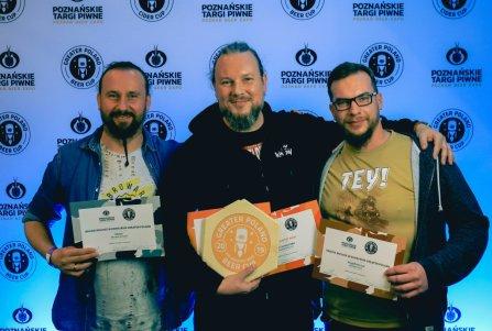 Zwycięzcy głownego konkursu piw. Foto: Bartosz Pussak.