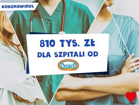 Ponad 800 tysięcy złotych na walkę z koronawirusem od marki Koral! Foto: materiały prasowe.