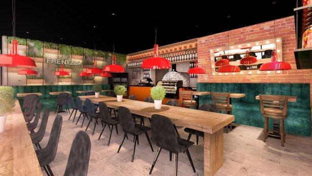 Wnętrze lokalu Frentzza – Pizza & Friends. Zdjęcie: materiały prasowe.