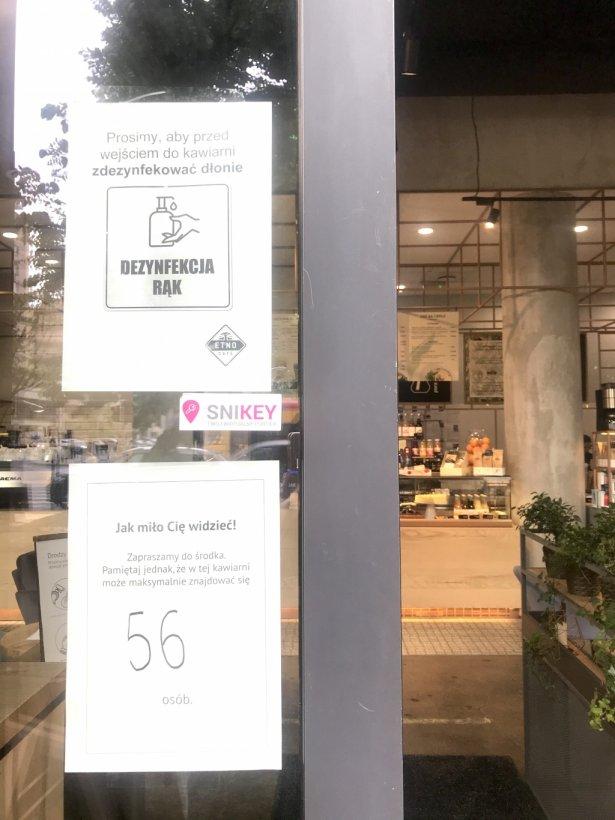 W Etno Cafe przy Marszałkowskiej może teraz przebywać 56 gości. Zdjęcie: Monika Jankowska-Kapica.